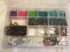 2.5 Lbs Mixed Lot Beads Agate Glass Phone Charm Sorted in Plastic Container