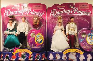 Disney's Dancing Princess Belle/Beast Cinderella/Prince Gift Set 1997 Mattel NIB
