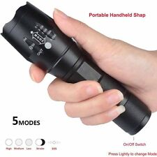 Puissant 9000LM Lumen 5Modes XML T6 LED Zoomable Lampe de poche 18650 Flashlight