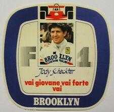 ADESIVO AUTO F1 anni '80 / Old Sticker JODY SCHECKTER Brooklyn (cm 12x12)