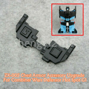 ZX-005 Chest Armor Accessory Upgrade For Combiner Wars Defensor Hot Spot G1 COOL