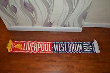 Liverpool V West Bromwich Albion Football Sciarpa Soccer Calcio Bufanda Sciarpa