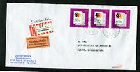 Bund MeF (3) 1874 Einschreiben Rückschein Mehrfachfrankatur BRD used