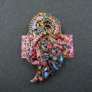 Betsey Johnson Women's Colorful Crystal Exquisite Flower Charm Brooch Pin Gift
