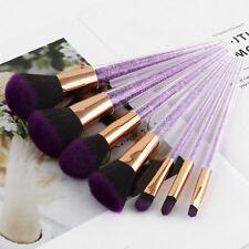 7Pcs Purple Crystal Makeup Brush Powder Foundation Eyeshadow Blush Brushes Set