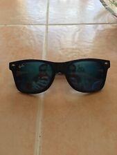 Ray-Ban RB2140 901 50-22 Wayfarer Blue Lenses Unisex Classic Sunglasses - Black