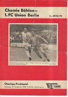 OL 78/79  1. FC Union Berlin - BSG Chemie Böhlen
