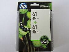 2PK New Genuine HP 61 Black Twin Pack Ink Cartridges