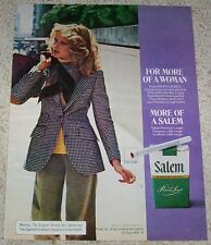 1974 ad page - Salem Cigarettes SEXY blonde GIRL smoking woman tobacco ADVERT