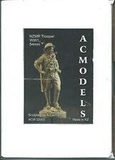 AC Modelli WW1 Nuova Zelanda montato FUCILI Trooper Figura 1/32nd KIT non verniciata