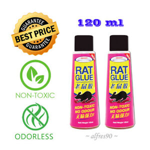 RAT GLUE TUBE (MOUSE RODENT PEST INSECT) STICKY ODORLESS NON-TOXIC 2 x 120ML