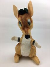 "14"" Vintage 1960s Early Plush Stuffed Google Eye Kangaroo Toy Animal Fair George"