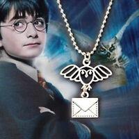 Harry Potter  Charm Pendant Time Turner Owl Post Service Necklace, Hedwig Flying