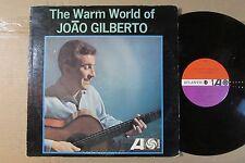JOAO GILBERTO the warm world of ATLANTIC MONO ORIGINAL LP brazil bossa guitar VG