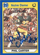 Notre Dame Fighting Irish PHIL CARTER Signed Card