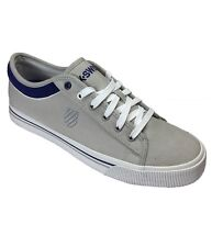 K-Swiss Bridgeport Men Canvas Trainer Sporty Gym Sneaker Plimsole Shoe Grey