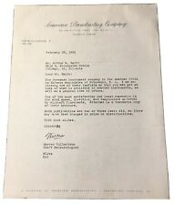 American Broadcasting Company Chicago Warren Culbertson Letter Paper Ephemera