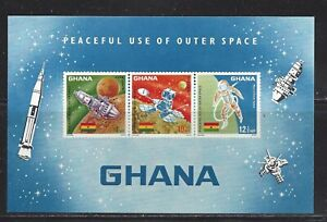 GHANA - 307a S/S - MNH - 1967 - PEACEFUL USE OF OUTER SPACE