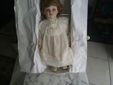 "New In Box Vtg. Duck House Heirloom Porcelain 18"" Doll Auburn Hair & Eyes Pretty"