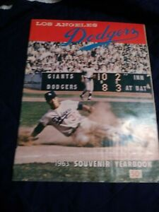 1963 Los Angeles Dodgers Yearbook very good- excellent condition (see scan)