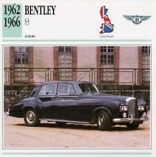 1962-1966 BENTLEY S3 Classic Car Photograph / Information Maxi Card