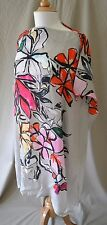 Megan Park Floral & Stripe Short Caftan Dress Size Small NWT