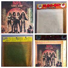 DS vTg Orig KISS 1977 LOVE GUN ROCK CONCERT t-shirt iron-on NOS MIP Rare Package