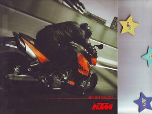 KTM Motorrad Prospekte 5 Stck.: 990 Super Duke/R/950 R Super Enduro/Adventure