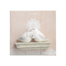Transpac Resin White Love Bird Wood Wall Plaque Home Decor Garden accents Gifts