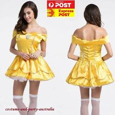 M4490 Princess Belle Beauty &the Beast Fairy Tale Sexy party Adult dress costume