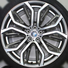 20 INCH APEC POLISHED GREY BMW X5 X6 WHEELS BRIDGESTONE FACTORY OE TYRES RUNFLAT