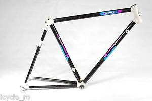 Vintage Rossin Strada Advance Carbon Allux Bicycle Frame 54 cm Classic Road Bike