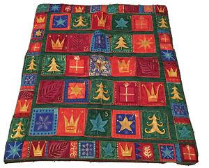 Quilted Handmade Fabric Advent Calendar  Christmas