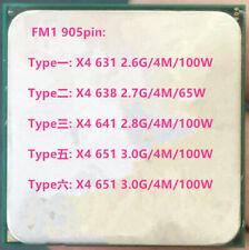 AMD Athlon II Quad core X4-631 X4-638 X4-641 X4-651 905PIN Sockel FM1 CPU