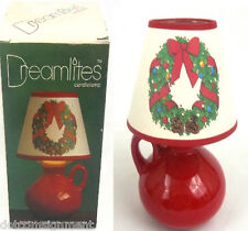 The Love Mug Dreamlites Candlelamp w/ Shade Uses Taper or Votive Candles 1988