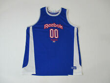 906227a3dba VINTAGE Reebok Basketball Jersey Adult 2XL XXL Blue Red Spell Out Mens 90s