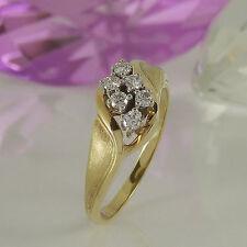 Natürliche Echtschmuck-Ringe aus mehrfarbigem Gold mit SI Reinheit für Damen