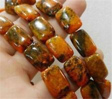 13x18mm Yellow Azurite Chrysocolla & Orange Turquoise Oblong Loose Beads 15''#02