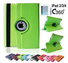 iPad 4 3 2 Tasche 360° Flip Case Schutz Hülle Smart Cover Etui Folie Zubehöre