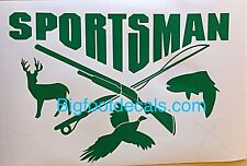 Hunting Fishing Decal Duck Shotgun Sportsman Camping Survival Window Sticker A