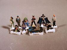 Batman and Robin Miniature Porcelain French Feve Figures Set