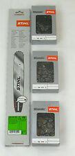"""STIHL Schiene 35cm 3/8"""" 1,3 Rollomatic mit 3 Halbmeisselketten für MS E14 4809"""