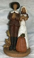 Vintage TJ Collection Man & Womens Fall Thanksgiving Figurine - Resin