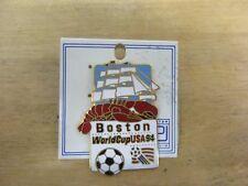 VINTAGE 1994 WORLD CUP USA BOSTON MASS. VENUE CITY GOLD LAPEL PIN NWT RARE