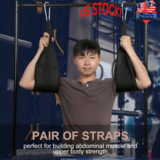 New Sling AB Straps Weight Lifting Door Hanging Gym Bar Abdominal Fitness US