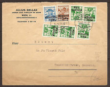 AUSTRIA. 1935. COMMERCIAL COVER. WINTERHILF STAMPS. ADDRESSED TO SWITZERLAND.