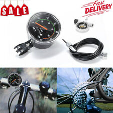 Waterproof Bicycle Bike Speedometer Analog Mechanical Odometer With Hardware US