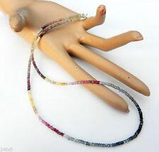 Unbehandelte Echtschmuck-Halsketten & -Anhänger aus Sterlingsilber mit Saphir für Damen