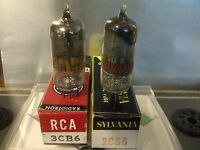 (2)  NOS Vintage 3CB6/3CF6 Vacuum Tube Lot