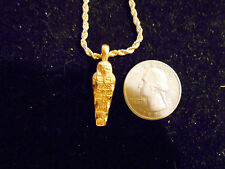 bling gold plated ancient egyptian pharaoh mummy Charm hip hop chain Necklace